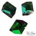 Скошенный Ромб Cosmic Emerald  27*21 mm