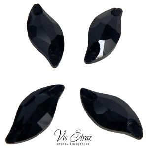 Листик Diamond Leaf Jet 20*9 mm