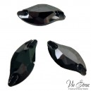 Листик Diamond Leaf Jet Hematite 20*9 mm