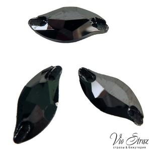 Листик Diamond Leaf Jet Hematite 20*9 mm