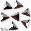 Треугольник Jet Hematite 22 mm