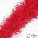 Красное боа 5-ти нитка