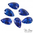 """Drop Sew-on Stone"" Sapphire 28*17 mm"