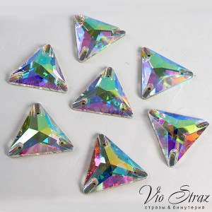 Triangle Crystal AB 22 mm