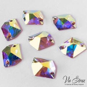 Скошенный Ромб Cosmic  Crystal AB 20*16 mm