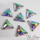 Скошенный Ромб Triangle Crystal AB 16 mm