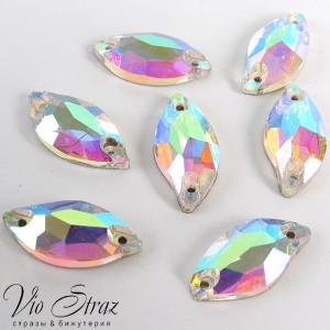 Листик Diamond Leaf  Crystal AB 20*9 mm