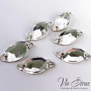 Листик Diamond Leaf Crystal  20*9 mm