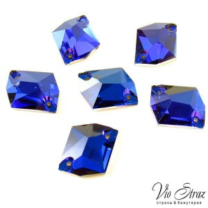 Скошенный Ромб Cosmic Capri Blue  20*16 mm
