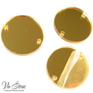 Зеркала Gold кружок  25 mm